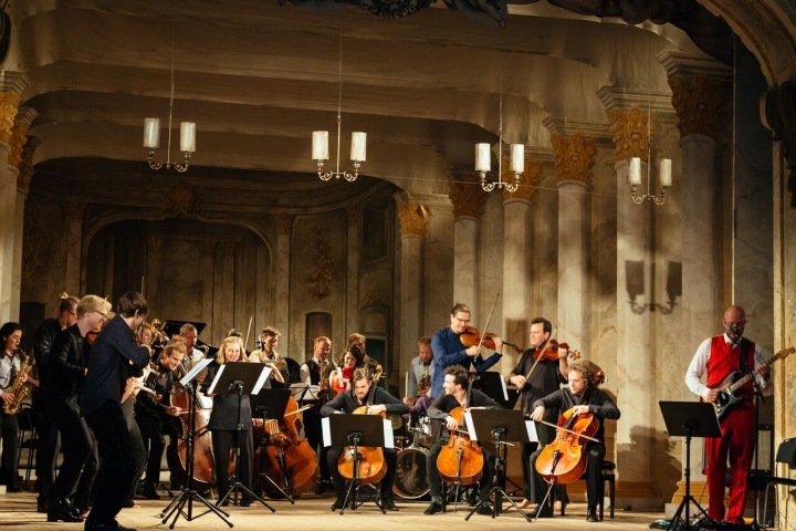The Agios band, O/Modernt Chamber Orchestra & Marzi Nyman